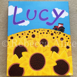 'Lucy' Sunflower Canvas