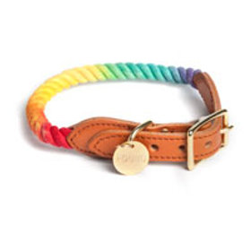 Ombre Rope Collar - Rainbow