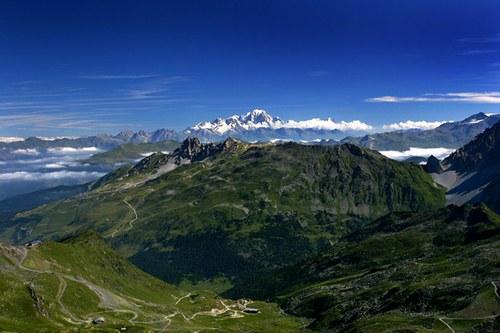 Mont-Blanc vu du Col de la Chambre