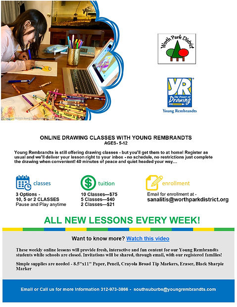 Young Rembrandts - Online Classes Flyer