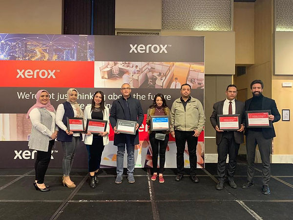 Technooffice Egypt Xerox team wins 6 awards at Xerox 2020 Kickoff meeting