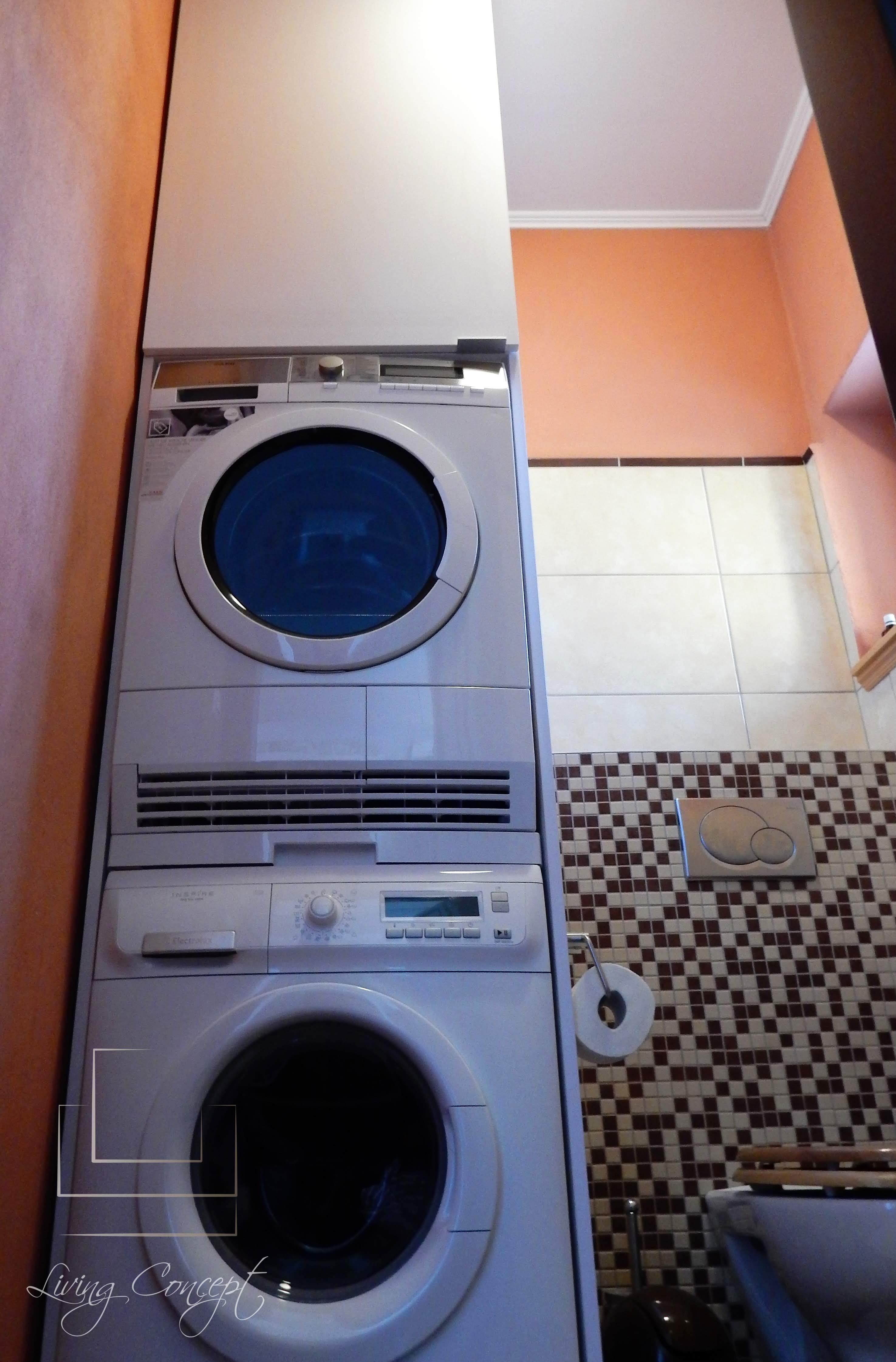 Obostavba práčky so sušičkou