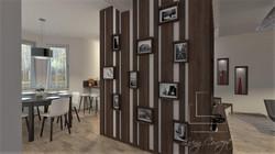 Vizualizácia kuchyňa s obývačkou