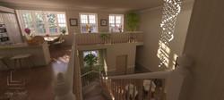 vizualizácia hala - schodište