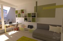 vizualizácia študentská izba