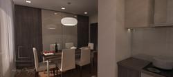vizualizácia jedáleň - kuchyňa