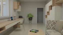 Návrh a vizualizácia hosťovskej izby