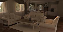 Redizajn obývačky - vizualizácia
