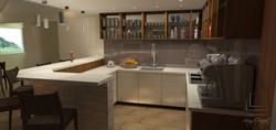 vizualizácia kuchyne, baru