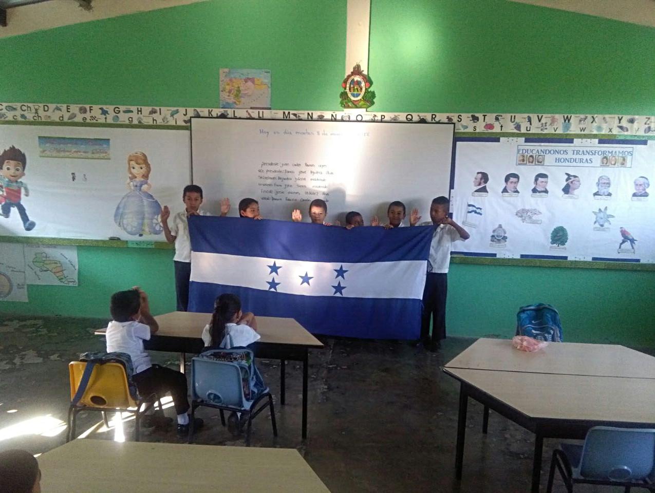 Escuela Luis Landa aldea La Jagua, Sabanagrande