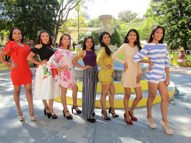 Siete hermosas jovencitas tras el reinado de la Feria Tradicional de Sabanagrande