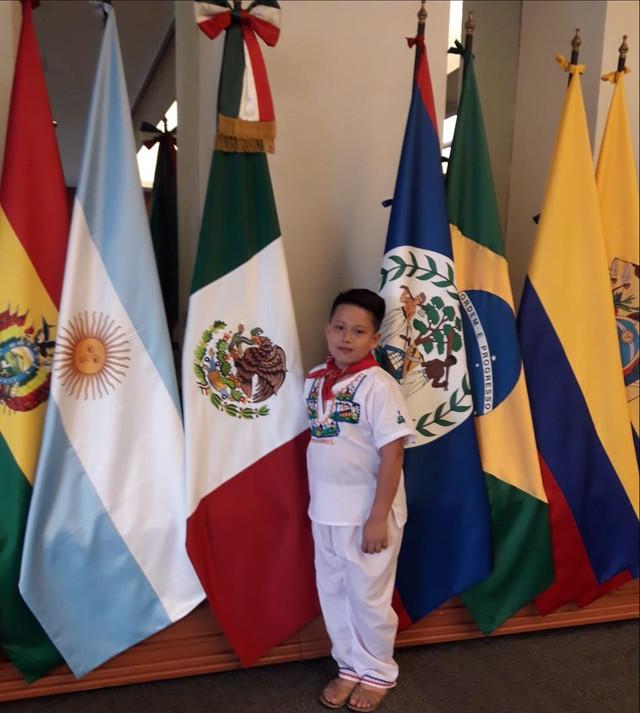 Niño del sur de Francisco Morazán representa a Honduras en intercambio cultural