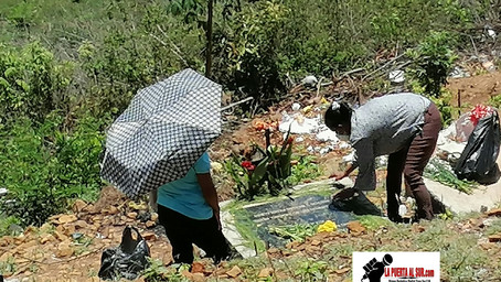 Poca afluencia de personas que visitan a sus madres sepultadas en Cementerio Local de Sabanagrande