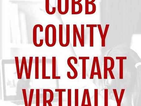 COBB COUNTY STARTS ONLINE