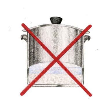 Reiskochen mit wenig Wasser
