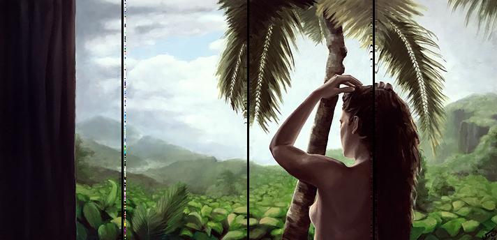 """Good morning Hawaii"", oil painting"