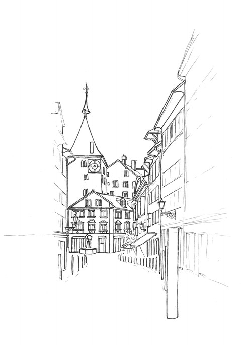 Zürich_Altstadt_Lucy_Kägi_Illustration