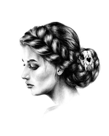 Portrait, charcoal