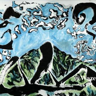 『ニーセン山』ー雲・山