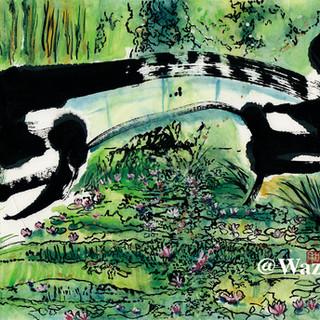 『睡蓮の池と日本の橋』ー虹