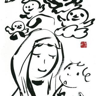 『赤い智天使の聖母』ー雲