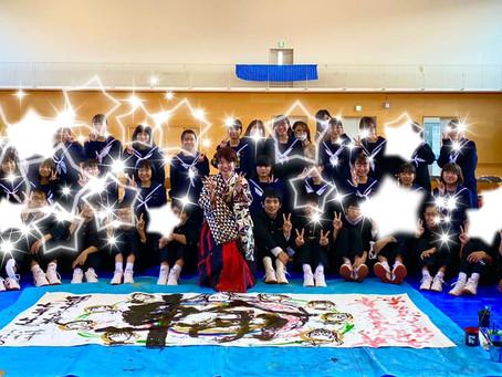 11/26 学校訪問6校目 小中一貫校頴田校7年生