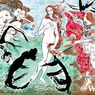 『ヴィーナスの誕生』ー風・貝・木