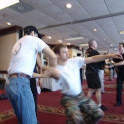 Photo of martial arts training