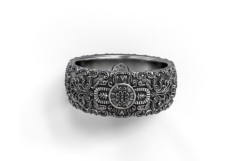 Vintage Baroque Band Ring