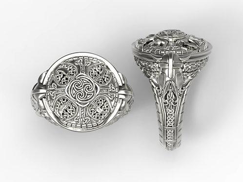 Celtic Shield Signet Ring