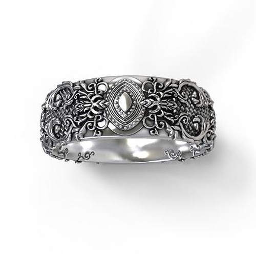 Gothic Wedding Rings Custom Wedding Bands Grey Wolf Jewellery