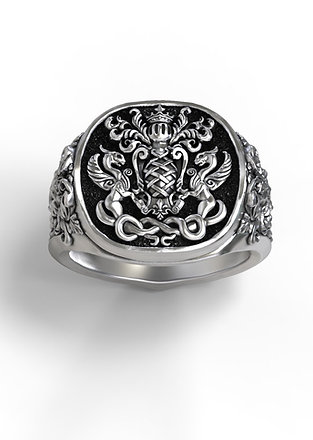 Coat of Arms/Family Crest Signet Ring
