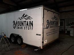 Custom Enclosed Trailer Vinyl Decals Mountain Man Stuff