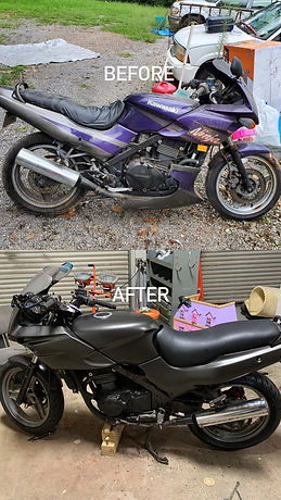 kawasaki motorcycle color change vinyl wrap