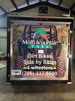 Custom Vinyl Enclosed Trailer Partial Wrap Moto Mountain