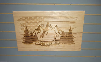 Personalized laser engraving concealment wall art rustic