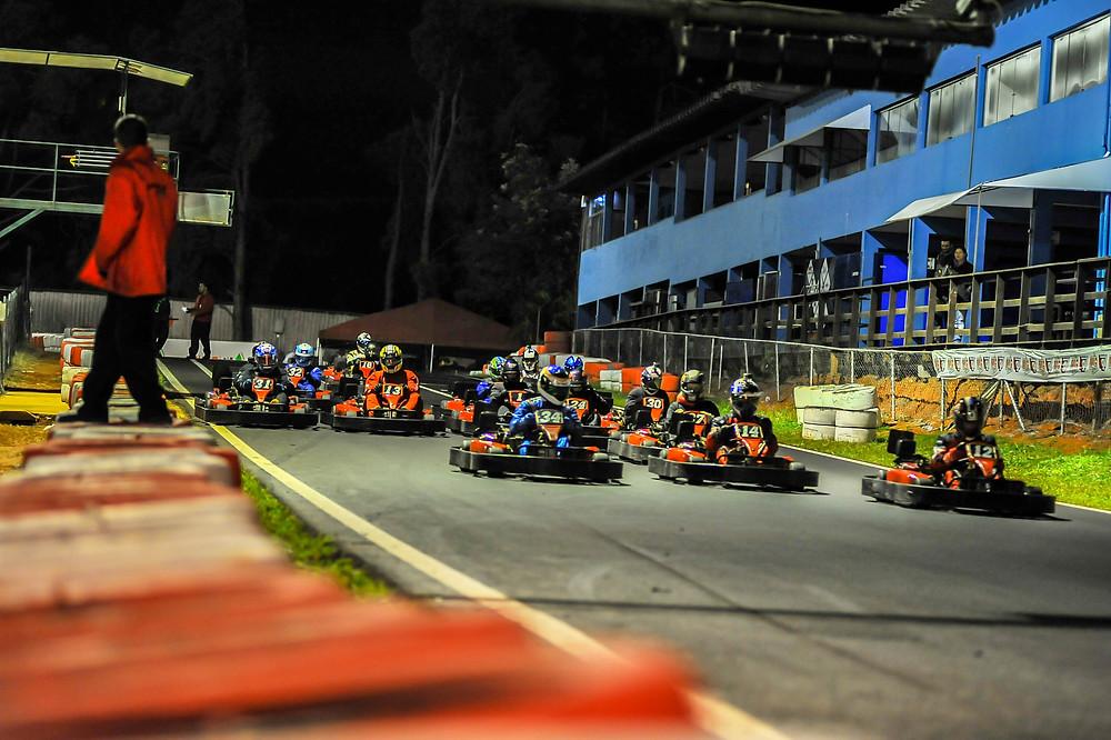 Largada da segunda etapa da PKL. PKL-E02 T-2017 Paulista Kart League PKL
