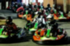 Pilotos aguardam sua entrada na pista temporada 2015 PKL Paulista Kart League