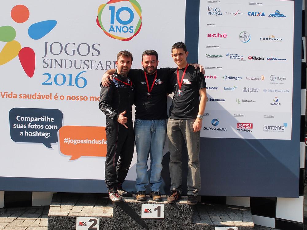 Alexandre Gregoski (BTR) P02; Filipe Fernandes (VH) P01; Nicolas Smith (JKR) P03. PKL-E05 T-2016.