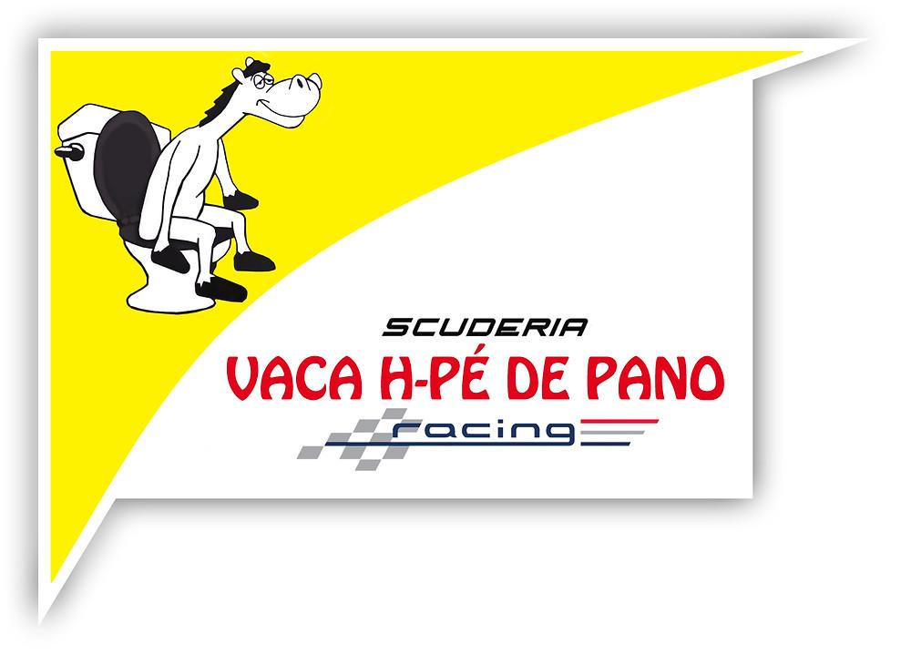 Nova logo-marca desenvolvida para a Scuderia Vaca H Pé de Pano. Scuderia Vaca H Pé de Pano. PKL Paulista Kart League