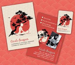 carte de visite flyer shiatsu