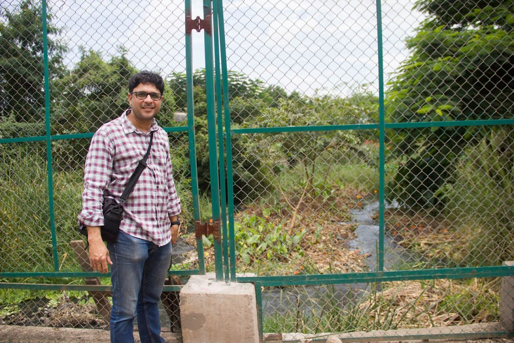 Ashwin at the Uruli Kanchan nala eco-restoration project