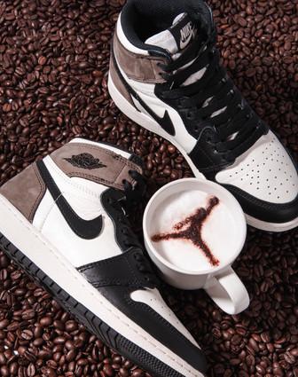 Foto voor de online raffle van de Air Jordan Mocha