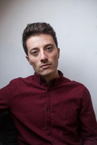 Portret van Flavio Spaminato, Italiaans Jazz zanger