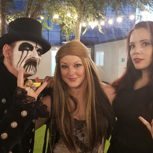 With King Diamond and wife Livia