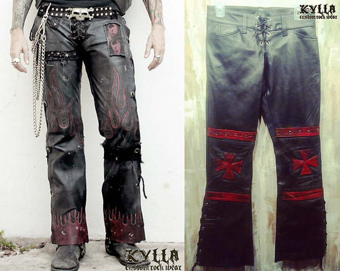 Custom Genuine Leather Jeans - MADE TO ORDER (please allow approx 2-3 months)