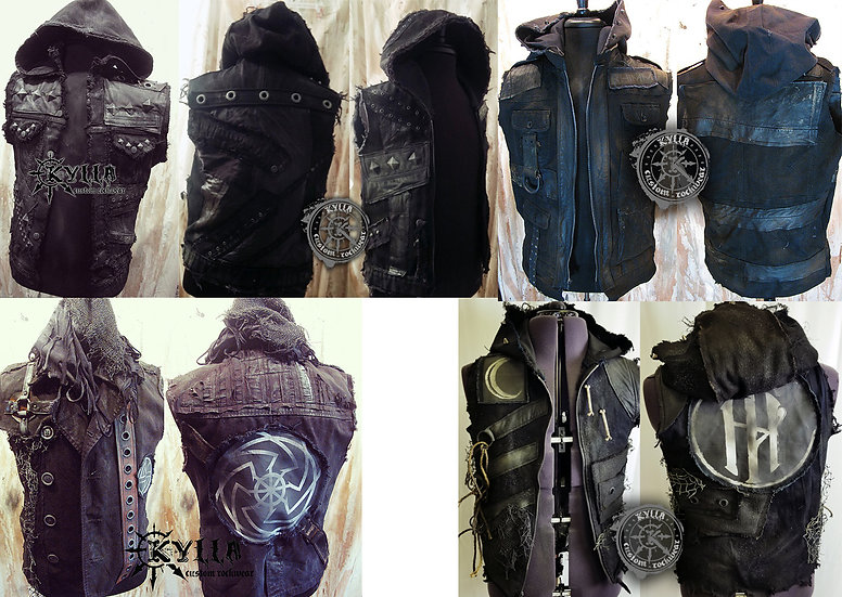 Custom Hooded Vest - MADE TO ORDER (Please allow approximately 2-3 months)