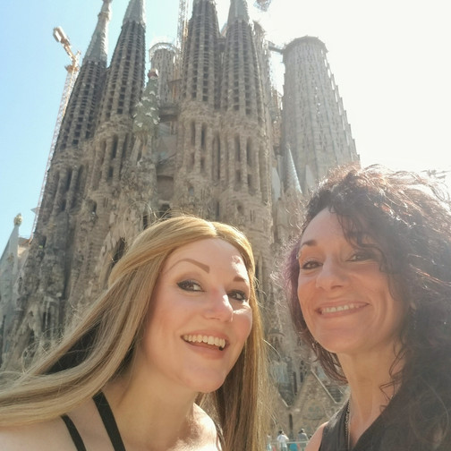 Grandma and I at La Sagrada Familia