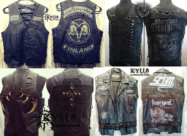 Custom Leather Vest - MADE TO ORDER (please allow approximately 2-3 months)