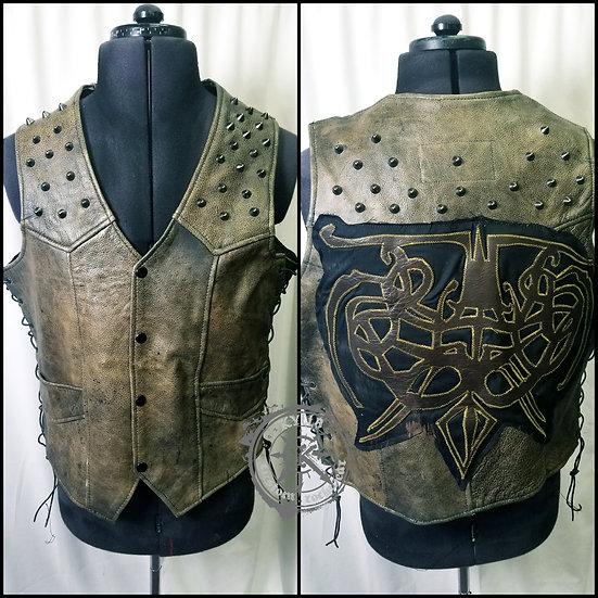 Men's Viking Nordic Leather Vest - size L-XL